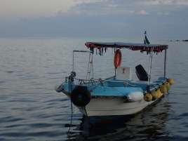 An Isabeleño fisherman's boat.